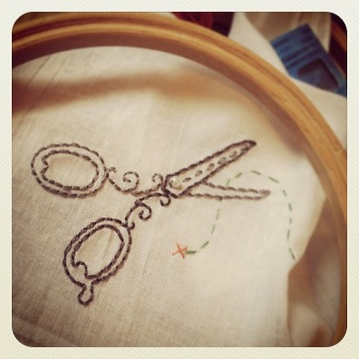 Scissors Embroidery