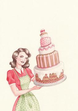 Lady with Cake